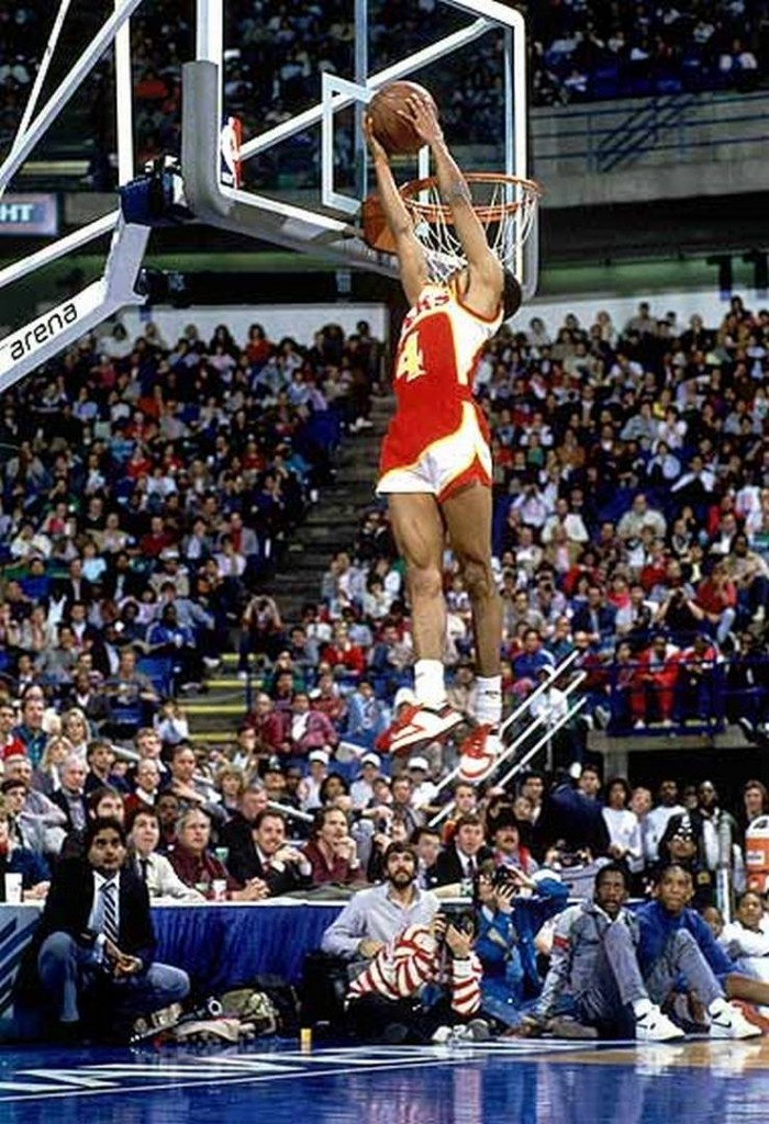 Spud Webb Pony City Wings Dunk Contest