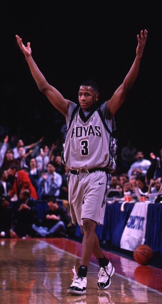 Allen Iverson in the Jordan 11 Georgetown Hoyas 1996