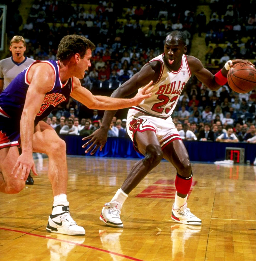 "Michael Jordan in Air Jordan 3 ""Fire Red"""