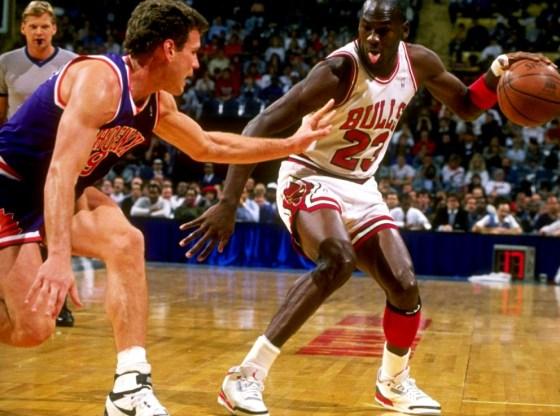 """Michael Jordan in Air Jordan 3 """"Fire Red"""""""