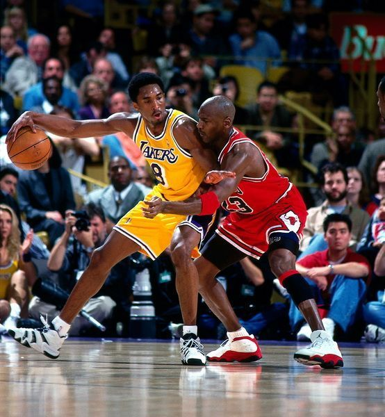 Kobe Bryant in adidas Crazy 8, Michael Jordan in Air Jordan 13