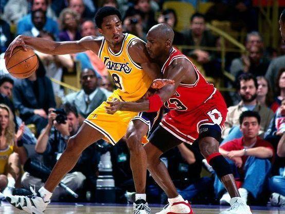 Kobe Bryant in adidas Crazy 8, Michael Jordan in Air Jordan 13