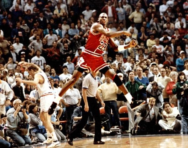 """Michael Jordan in Air Jordan 4 """"BRED"""""""