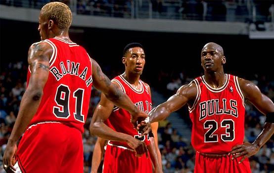 Rodman, Pippen, Jordan image via nbalegend.net