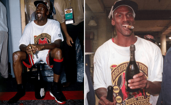 Jordan Cigar & Champaign celebration Image via fullylaced