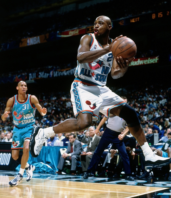 Mitch Richmond in Nike Air Max Uptempo