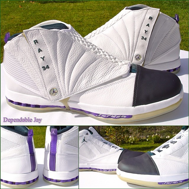 Ray Allen Jordan PEs: Air Jordan 16 Milwaukee Bucks Player Exclusive