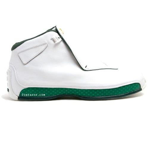 Ray Allen Jordan PEs: Air Jordan 18 Boston Celtics Home Player Exclusive