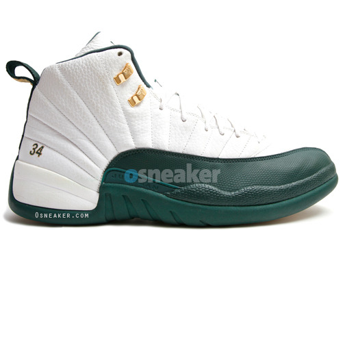 Ray Allen Jordan PEs: Air Jordan 12 Boston Celtics Home Player Exclusive