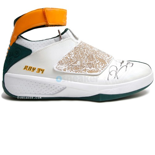 Ray Allen Jordan PEs: Air Jordan XX Seattle Sonics Home Player Exclusive