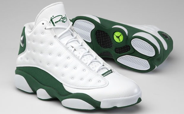 Ray Allen Jordan PEs: Air Jordan 13 Celtics Home Player Exclusive