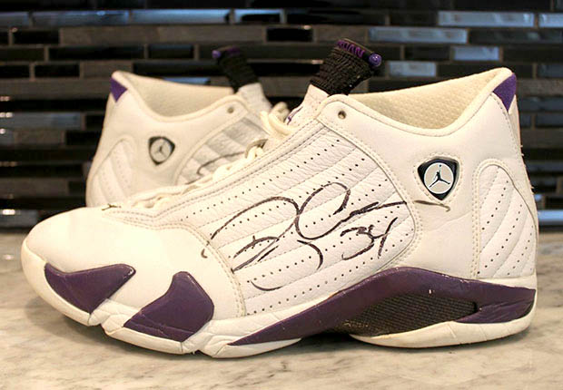 Ray Allen Jordan PEs: Air Jordan 14 Milwaukee Home Player Exclusive