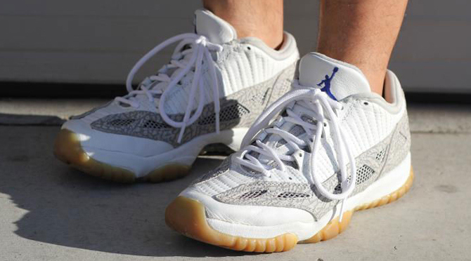 "Original Air Jordan 11 Low IE ""Cobalt"" Photo via via MJO23DAN"