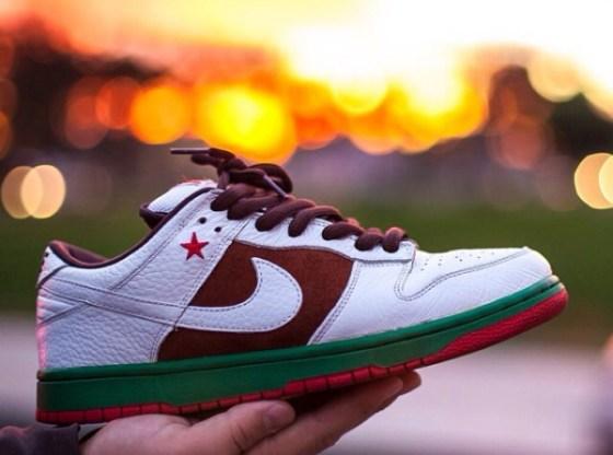 "Nike SB Dunk Low ""Cali"" Photo via @chriss_310"