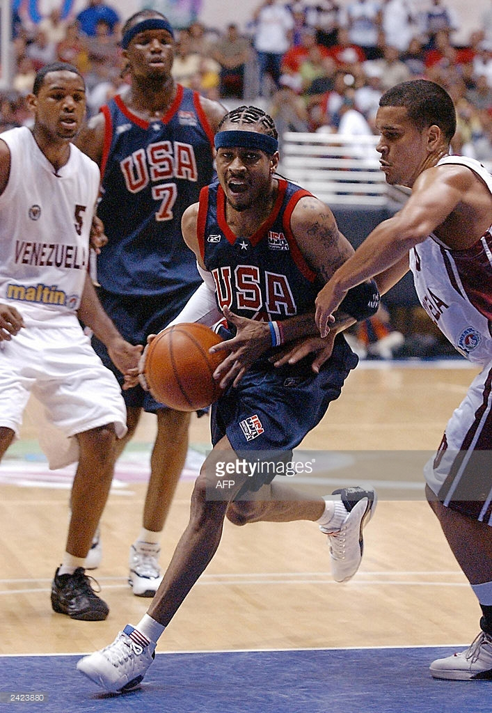 "Allen Iverson in Reebok Answer VII ""USA"" Photo via Getty"