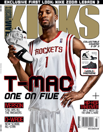 Tracy McGrady on the Cover of Kicks Magazine with the adidas T Mac 5