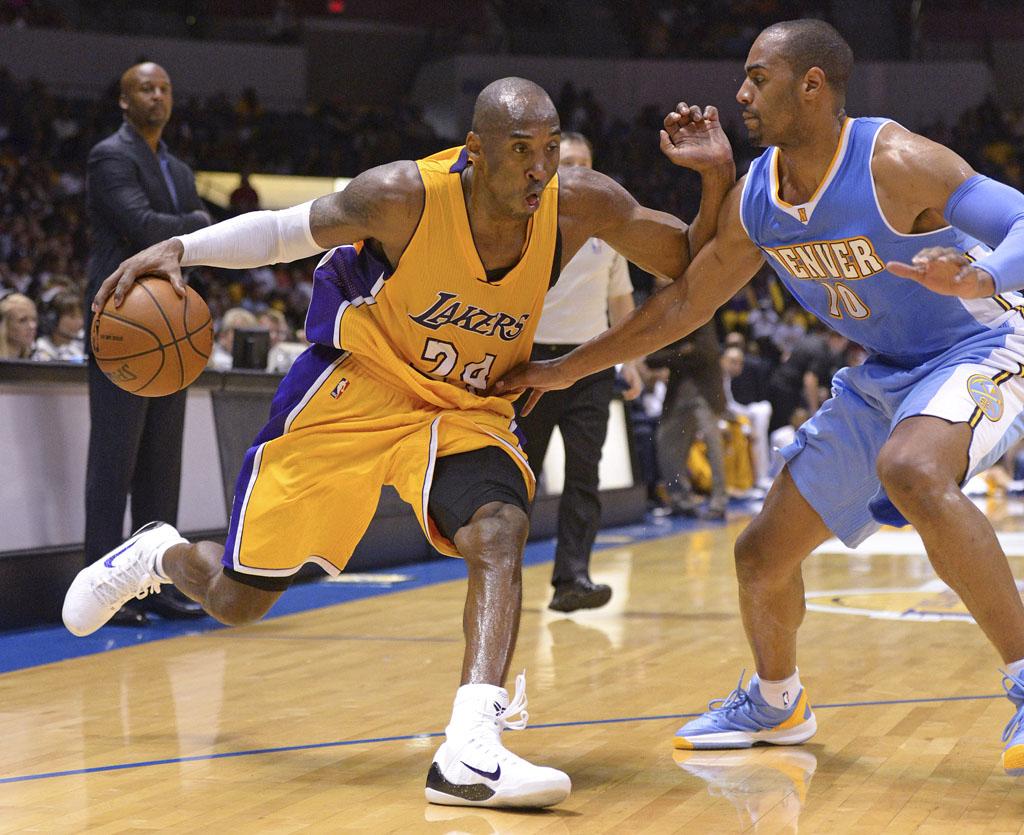 Kobe wearing the Nike Zoom Kobe IX - Image via Jake Roth USA TODAY Sports