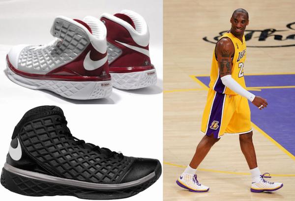 Nike Zoom Kobe III - Nike Zoom Kobe II - Nike Zoom Kobe I - Nike Air Zoom Huarache 2K5 - Nike Air Zoom Huarache 2K4 - via Cardboardconnection