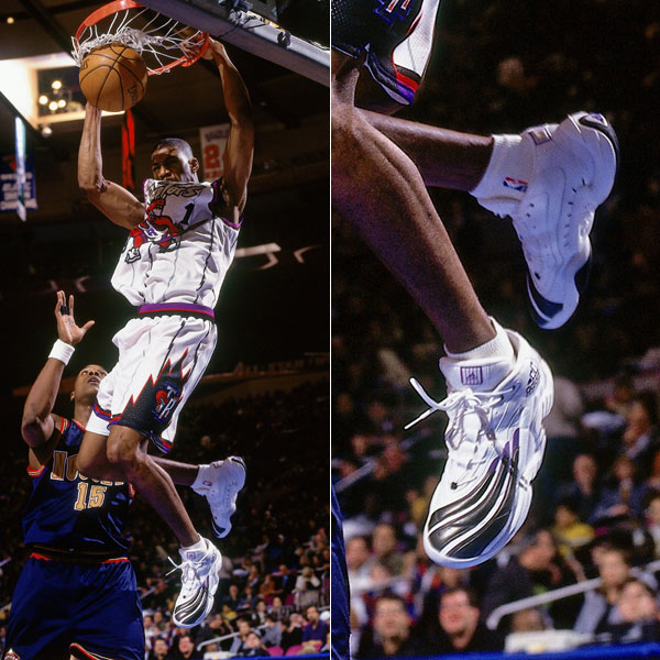 Tracy McGrady wearing the adidas Real Deal in 1998