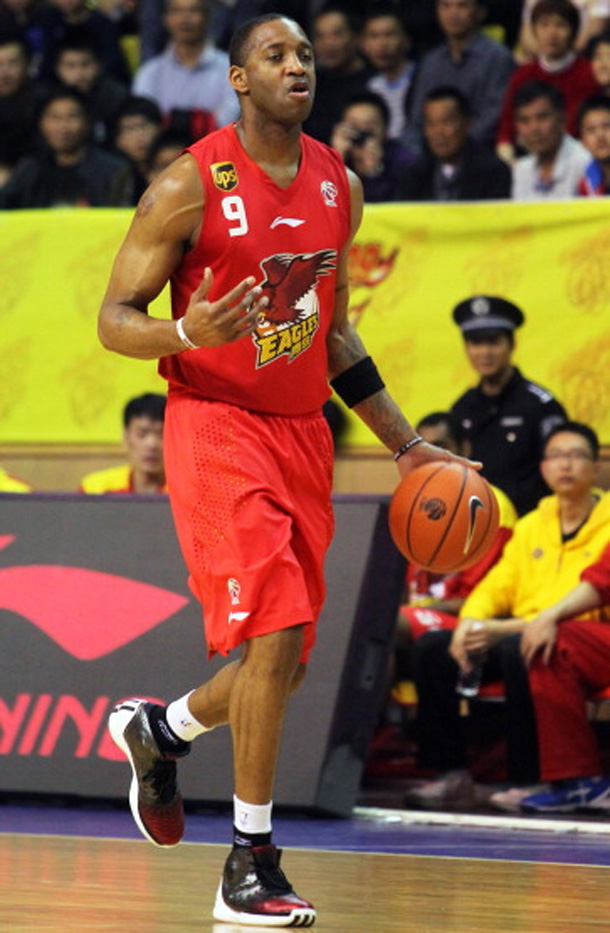 Tracy McGrady wearing the adidas Rose 3.5 in China in 2012