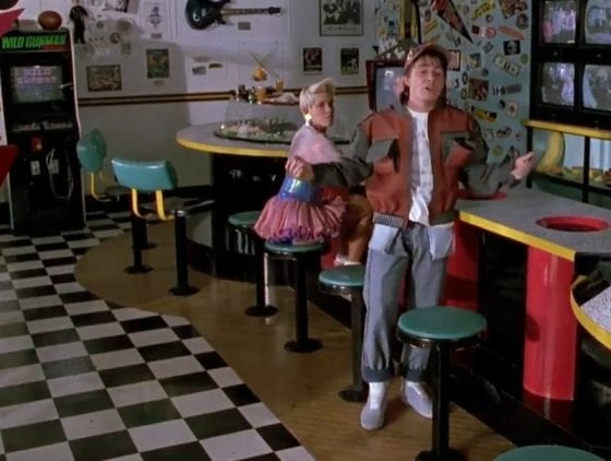 Marty McFly Jr. Nike MAG in Cafe 80s - Back To The Future II