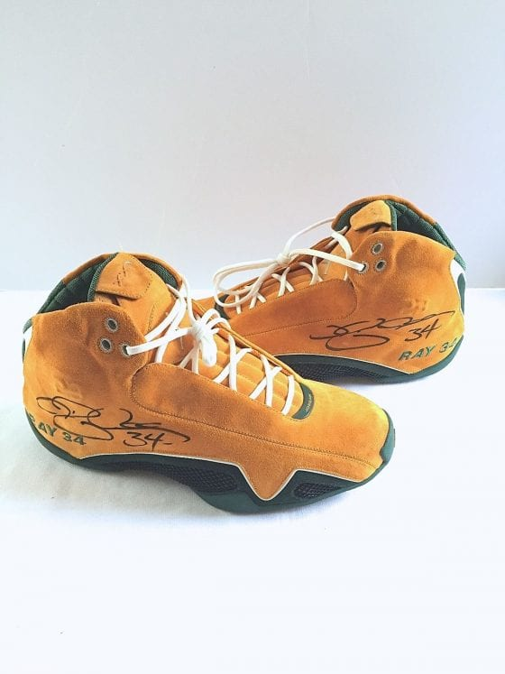 Ray Allen's Jordan XX1 Yellow Suede PE For Sale