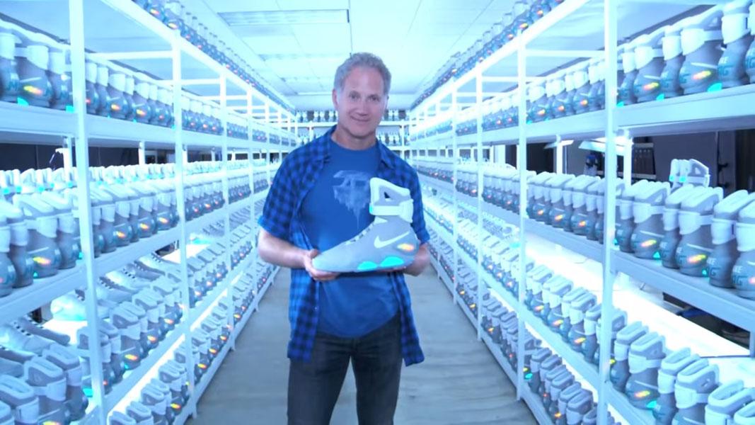 Tinker Hatfield holding 2011 Nike MAG