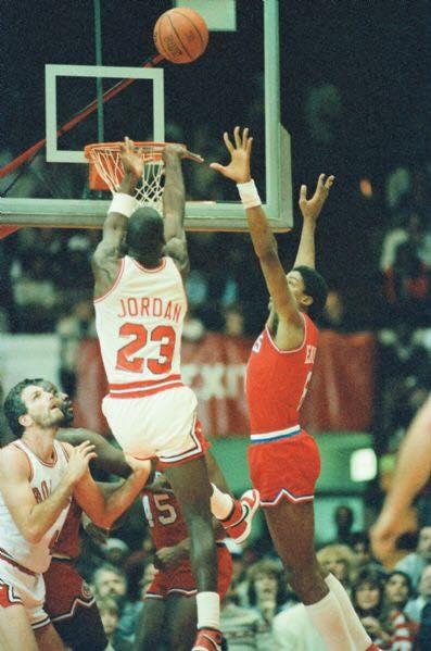 Michael Jordan debuts the Nike Air Jordan for the very first time.