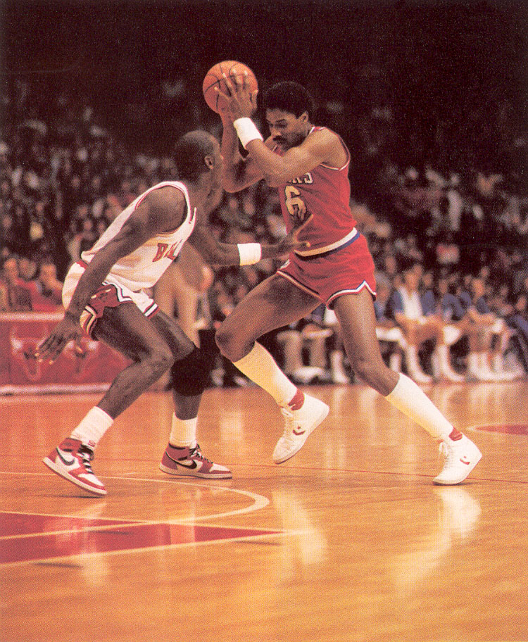 Michael Jordan debuts the Nike Air Jordan for the first time.