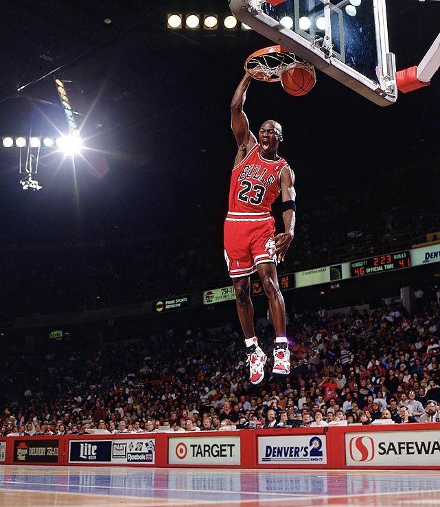 """Michael Jordan in Air Jordan 6 """"Carmines"""""""