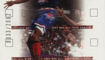 "Michael Jordan in Air Jordan 8 ""Aqua"" 2002 Upper Deck Card"