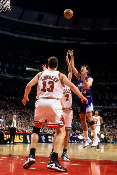 Luc Longley in the Nike Air Max Battle Force