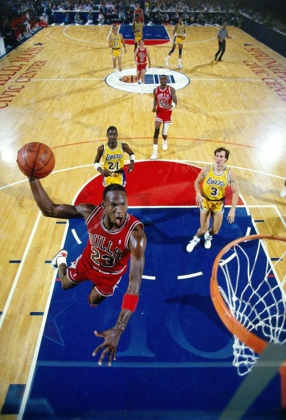 "Michael Jordan photo from the cover of ""Come Fly With Me"""