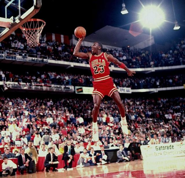 Michael Jordan Photos Free Throw Line Dunk in Air Jordan 3