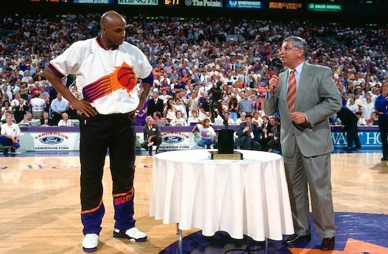Charles Barkley in Nike Air Force Max P.E.