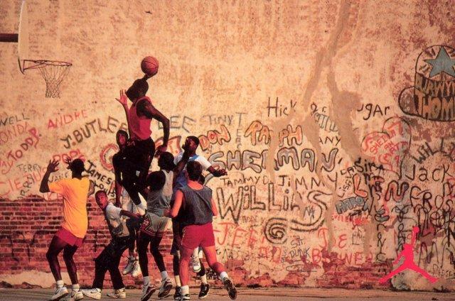 Air Jordan 4 Blacktop Playground Poster