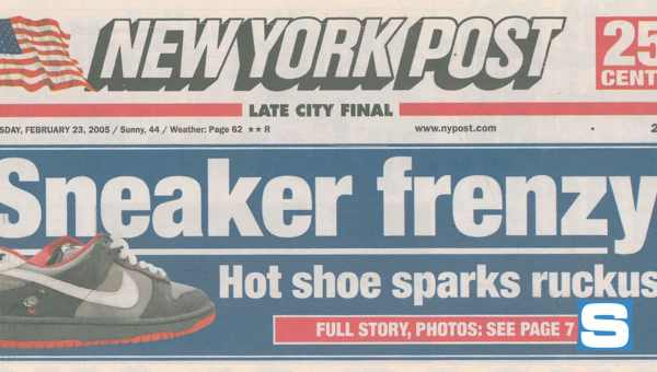 Nike SB: Pigeon Dunk NY Post Headline