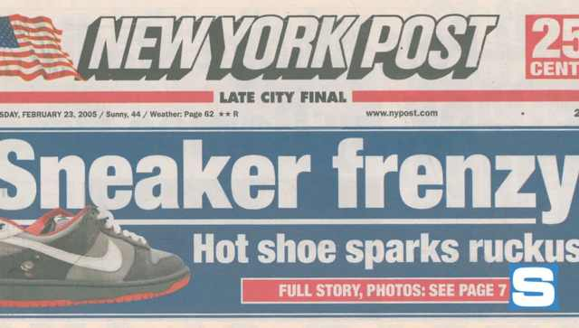 Nike SB: Pigeon Dunk NY Post Headline
