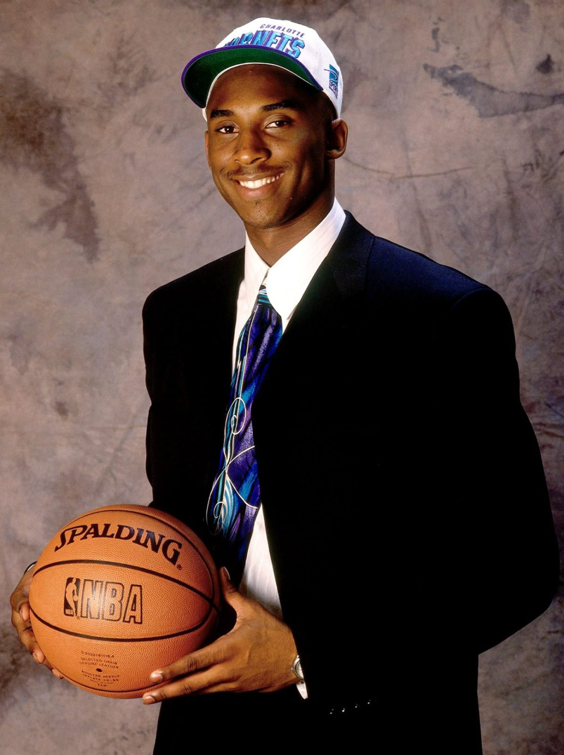 Kobe Bryant as a Charlotte Hornet on Draft Day