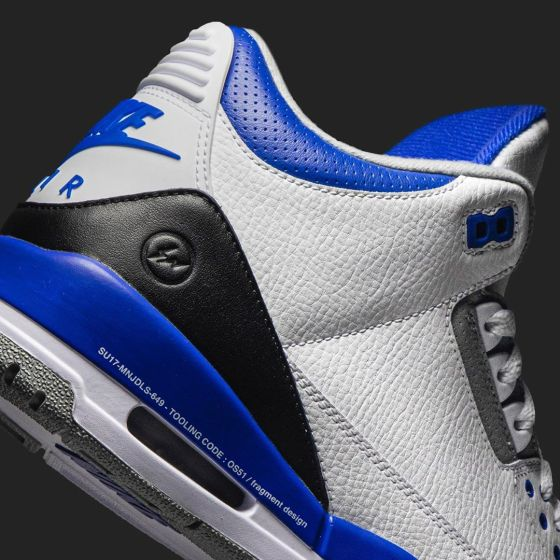fragment design x Air Jordan 3 Heel