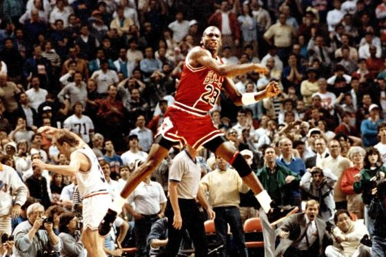 Michael Jordan The Shot over Craig Ehlo (Fist Pump)