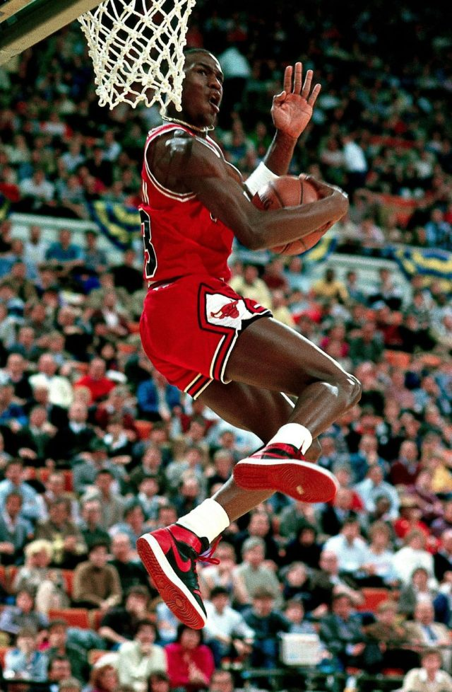 Michael Jordan in the 1985 NBA Slam Dunk Contest