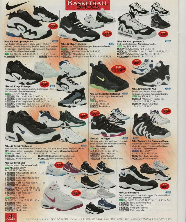 Eastbay Catalog 1997 Basketball Shoes