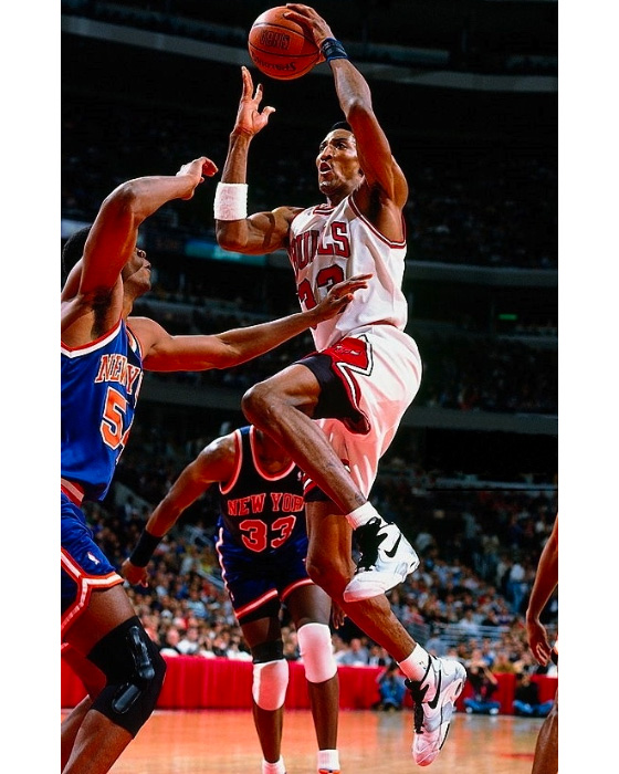 Scottie Pippen wearing the Nike Air Up PE