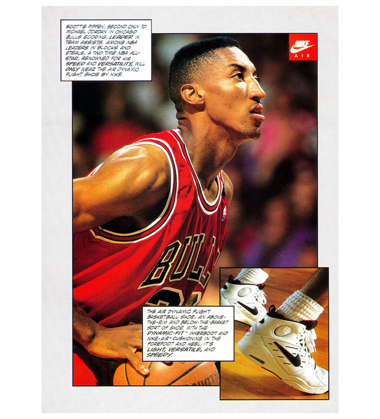 Scottie Pippen Air Dynamic Flight Ad