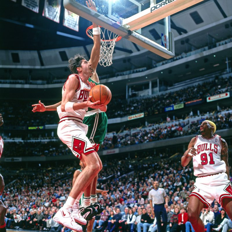 Toni Kukoc in the Nike Air Thrill Flight.