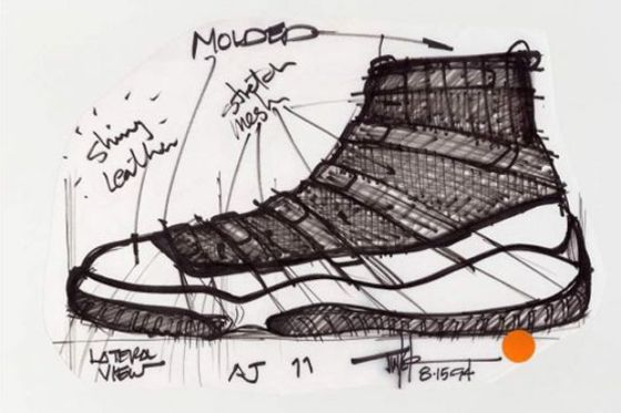 Tinker Hatfield's Air Jordan 11 Original Sketch Concept