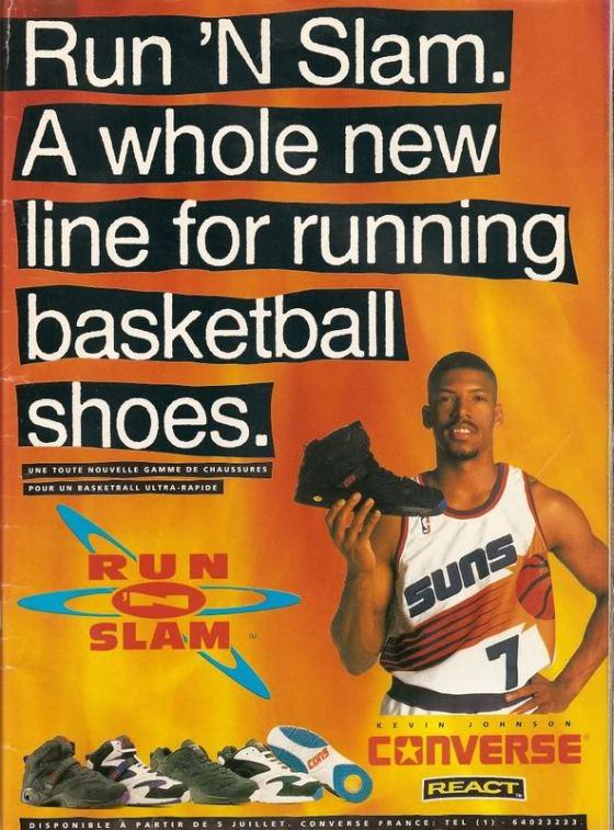 Kevin Johnson Converse Run 'N Slam Ad