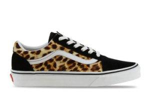 Vans Old Skool Zwart/Leopard Dames