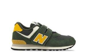 New Balance 574 Groen/Geel Kinderen